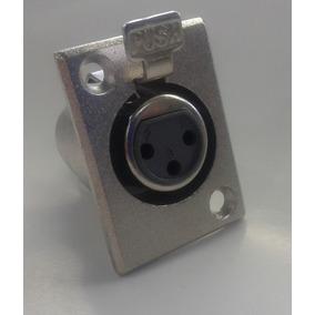 40 Pçs Conector Xlr Canon Fêmea 3 Pinos Para Painel