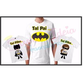 Camisa Pai E Filho Batman - Calçados 4917f66f78b