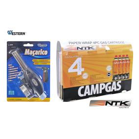 Kit C/ 1 Maçarico Western C/ Acend. Autom. C/ 4 Refil