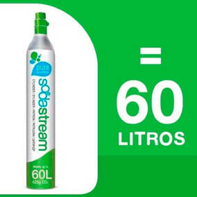 Cilindro Co2 Soda Stream 60 Descargas Aproximadamente