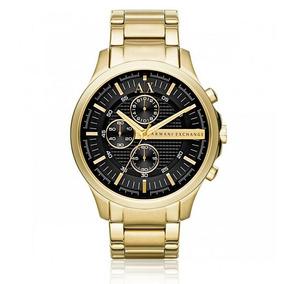 Relógio Masculino Armani Exchange Analógico Ax2137/4pn Doura