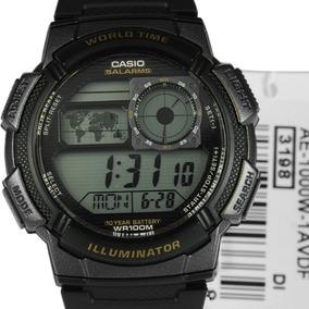 Relógio Casio Ae-1000w-1avdf Caixa Preta,100 M Prova Dágua