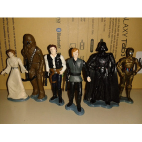 Star Wars Coleção Completa Bonecos Luke Skywalker Chewie C3