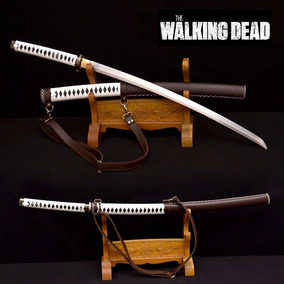 Katana Japonesa The Walking Dead Aço Carbon 1060 Feita A Mão