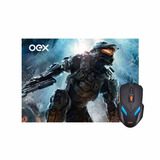 Mouse E Mousepad Gamer Oex Mc100 2400dpi