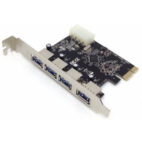 Placa Pci-e Usb 3.0 5gbps Com 4 Portas Dp43