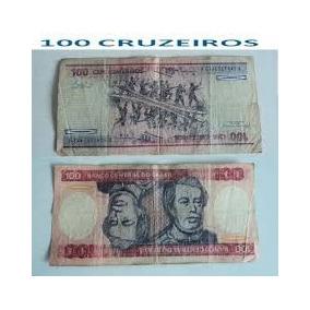 Cédula Antiga De 100 Cruzeiros Duque De Caxias