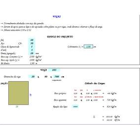 Planilha De Engenharia - Dimensionamento Vigas De Concreto
