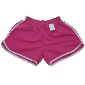 Kit Com 05 Shorts Adulto Feminino Tactel Liso - Atacado