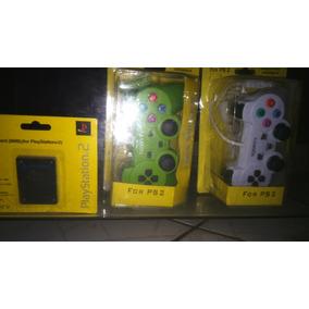 Dois Controle De Playstation 2 Mais Memory Card Mais Brinde