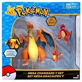 Pokemon Battle Action Mega Charizard Set