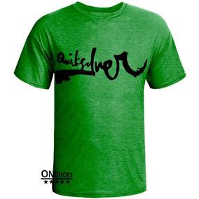 ee2c294f9aa1d Camisa Quiksilver Verde - Camisetas e Blusas no Mercado Livre Brasil