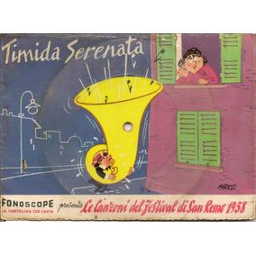 Fonoscope Cartão Postal Musical Antigo 1958 Tímida Serenata