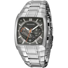 Relógio Technos Os20hw/1l Cronógrafo Cor Prata 12x Sem Juros