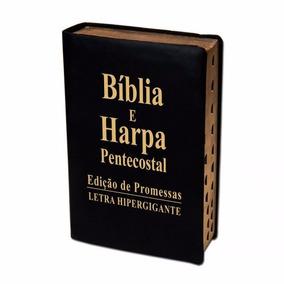 Bíblia Com Harpa Pentecostal Letra Hiper Gigante Luxo