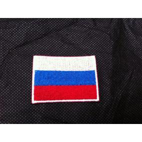 Patche Aplique Bordado Da Bandeira Da Rússia 5,5cm Por 4cm