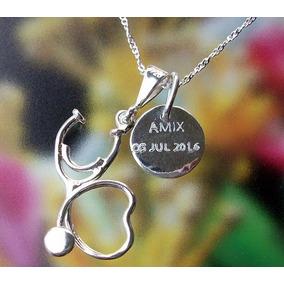 c1a28cb7d6fd Porta Placas Personalizados Plata Zirconias - Joyería en Mercado ...