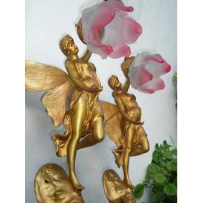 Veladores,par De Apliques Mujeres Alas Mariposa ,tulipa