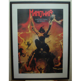 Manowar - The Triumph Of Steel Quadro Poster 75cmx1,00cm