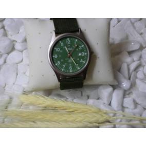 664800fdb7d Relógio De Pulso Militar Japan Pulseira Nylom Verde