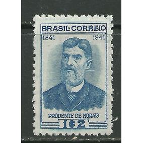 1942 - Centenário Nasc Prudente De Moraes - Mint - Rhm C174