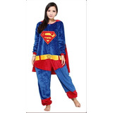 39b32e64c Pijama Adulto Macacão Plush Superman Liga Justiça Com Capuz