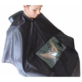 Capa De Corte Cabeleireiro Barbeiro Com Visor Celular Top