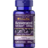 Resveratrol Extrato 100 Mg 120 Caps Polygonum Cuspidatum