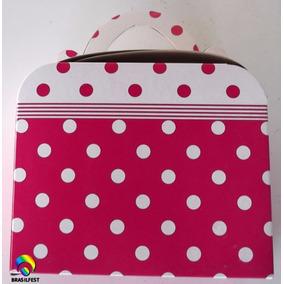 Caixa Maleta Pink C/ Poá Branco (10 Caixas)