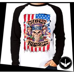 Manga Longa Guns N Roses Banda Hard Rock Camisa Comprida Fla 6cc3541c831