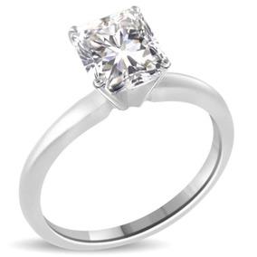 5ab2fa28077ea Anillo Solitario Diamante Natural 2 Kilates En Oro Blanco
