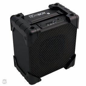 Speaker Beat Box Uatt Preto - Som Portátil Presente Criativo