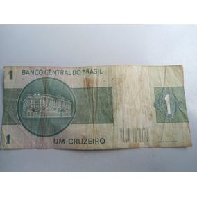 Dinheiro Nota Antigo Um Cruzeiro