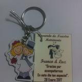 Recuerdos Y/o Encintados Para Matrimonio Llaveros X Unidad