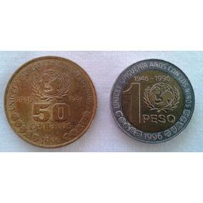 Argentina Unicef 1996 Dos Monedas Un Peso Y 50 Cvos