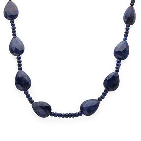Collar De Plata Con Zafiros 02214554
