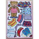 B0097 Stickers Adesivos Ursinha E Roupas - Uma Ursinha E 17