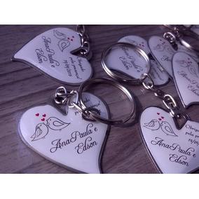 150 Chaveiros Coração Lembrancinha Pra Casamento Personalize
