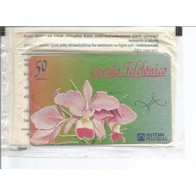 Loucura Cartão Pioneiro Raro Orquídea Telebrás Lacre