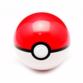Pokeball Com Botao De Abrir + 6 Pokemosn 2-3cm Aleatórios