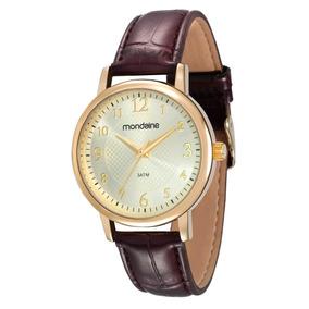 Relógio Mondaine Pulseira Couro Análogo Social 83281lpmvdh1