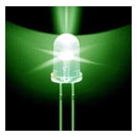 Led 5mm Verde Alto Brilho, Lote Com 500 Pçs