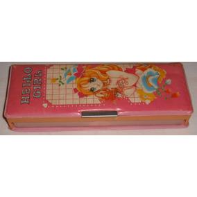 Estojo Escolar Hello Girl Formosa Lee 24x9cm Usado Anos80