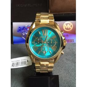 Relogio Michael Kors Dourado Azul - Relógios De Pulso no Mercado ... 10bff6af81