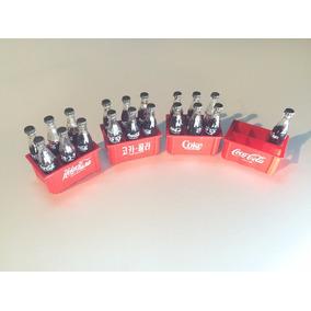 Coca Cola - Mini Engradado Com 6 Garrafinhas Anos 80