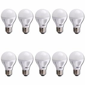 Lámpara Led Sica 9w Luz Fria 220v E27 Pack X 10 Uni.