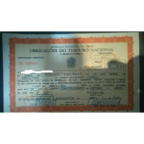 Obrigações Reajustaveis Do Tesouro Nacional - Ortn