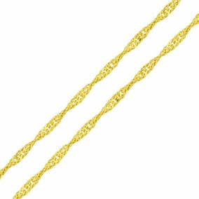 Cordão Corrente Singapura 1,0mm X 50cm Ouro 18k-750 Garantia