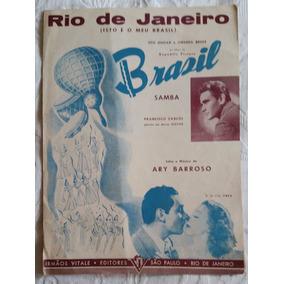 Partitura Antiga - Rio De Janeiro Brasil Samba - Ary Barroso