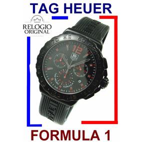 2f16f9840ea Tag Heuer Formula 1 Crono 42 Mm Preto E Vermelho Cau111a !